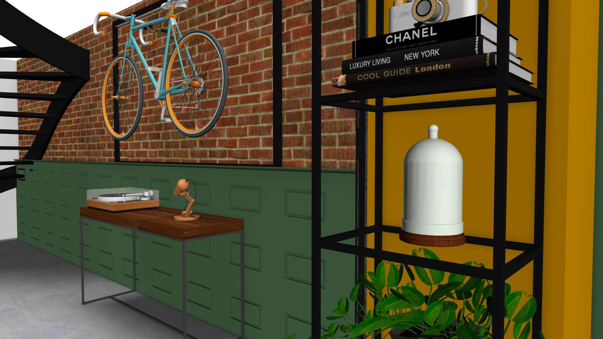 Interieurontwerp woonkamer en badkamer Tilburg – De Muis
